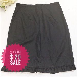 NWT President Stone black skirt